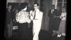 couple dancing, 16mm b and w - stock footage
