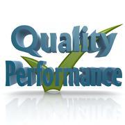 tick quality performance - stock illustration