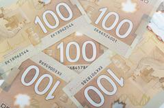 polymer bank notes  forming a nice background - stock photo