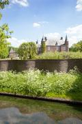 castle Zuylen in spring - stock photo
