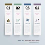 infographic label tab template - stock illustration