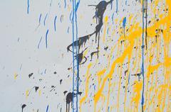 leaking paint - stock photo
