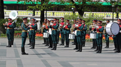 Kremlin brass band Stock Footage