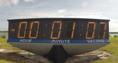 Kennedy Space Center Countdown Clock Stock Footage