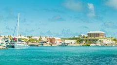View of Kings Wharf, Bermuda from Cruise Ship Stock Footage