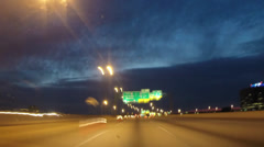 Night driving time lapse Stock Footage