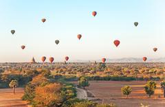 Multicolored Balloons Bagan Stock Photos