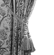 Curtain with an ornament  in black and white Stock Photos