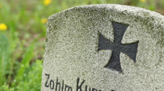 Iron Cross Grave Stock Footage