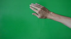Showing Uses of Computer Touchscreen on Green Screen - stock footage