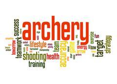 archery word cloud - stock illustration