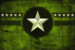 Military army star over grunge background Stock Illustration