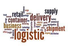 logistic word cloud - stock illustration