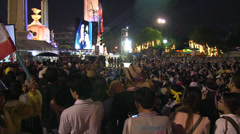 PROTESTERS MARCH UPRISING CROWD DEMONSTRATION Stock Footage