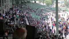 Crowd at Horse Track (Santa Anita Park - Arcadia, CA) Stock Footage