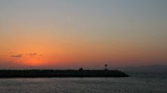 Sun Setting in Marina del Rey, CA Stock Footage