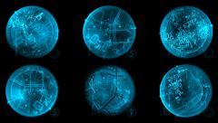 Space-based satellite navigation system Stock Footage