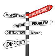 Direction to breakthrough Stock Illustration