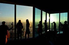 eureka tower observation deck (eureka skydeck 88) - melbourne - stock photo