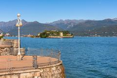 Lake maggiore and isola bella in italy. Stock Photos