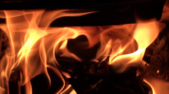 Fire in the furnace Stock Footage