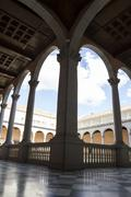 indoor palace, alcazar de toledo, spain - stock photo