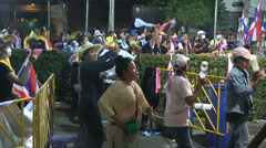 PROTESTERS MARCH UPRISING CROWD DEMONSTRATION DANCING MUSIC Stock Footage