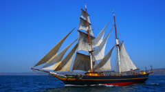 Sailing boat tres hombres Stock Footage