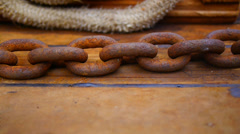 Anchor chain tracking Stock Footage