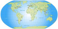 Map of the world Stock Illustration