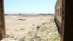 Semi destroyed sanatorium leprosarium in Abades village in Tenerife island - stock footage