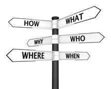 Questions Signpost Stock Illustration