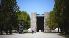 Stock Video Footage of dachau concentration camp memorial site