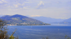 Timelapse maggiore lake , Italy. 4k footage Stock Footage