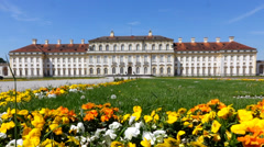 Castle and park schleisheim Stock Footage