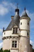castle of chenonceau. loire valley. - stock photo