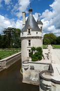 castle of chenonceau. - stock photo