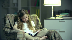Little Bookworm Stock Footage
