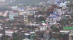 Nagaland, north-east India, Kohima hill town settlement Stock Footage