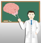 neurology doctor - stock illustration