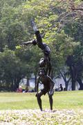 statue of acrobatics - stock photo