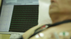 Stock Video Footage of Male patients do cardiogram
