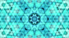 Abstract kaleidoscope animation with turquoise triangle pattern. - stock footage