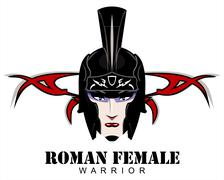roman female warrior - stock illustration