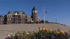 Europakade, quay Tolkamer, where the river Rhine enters the Netherlands Stock Footage