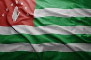 Flag of abkhazia Stock Illustration