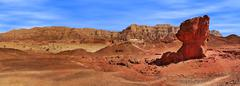 Panorama of timna park, israel. Stock Photos