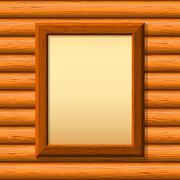 Wooden framework on a wall - stock illustration