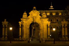 Budapest, ornate arched gateway to the Royal Palace Stock Photos