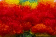 Clown wig background Stock Photos